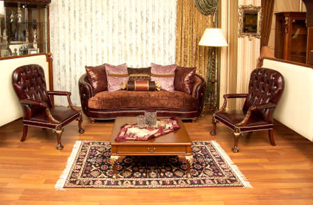 Living room of a new old home. Furniture.