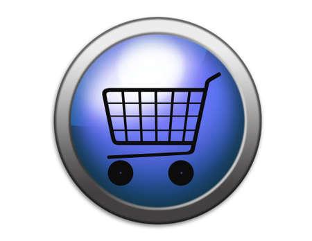 Shopping basket illustration. Shopping.  Stock Photo