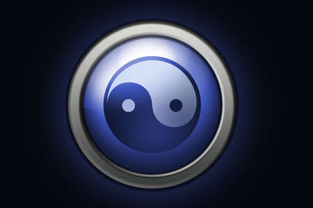 Ying-Yang sign, positive and negative versions. Made with PS Stock Photo - 2625789