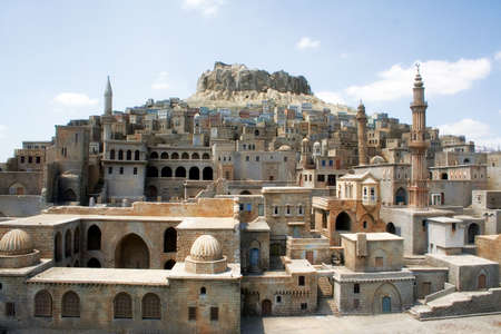 Turkey tourism city... Mardin stone homes.. Tourism concept Stock Photo