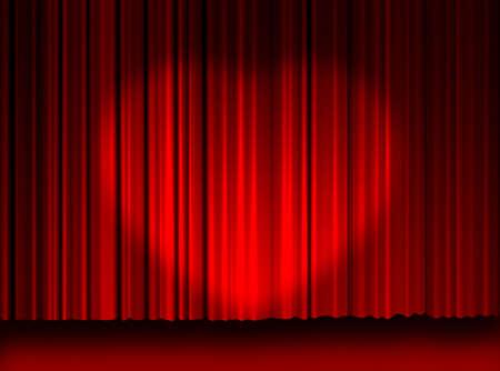 High resulation Movie Curtains background. Movie curtains love light... My heart. photo