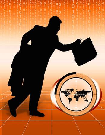 Conceptueel beeld beeltenis wereldhandel Big baas. World Business.
