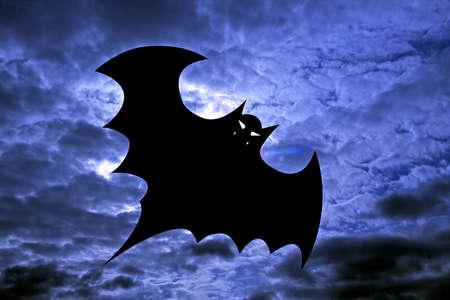 drakula: Halloween background, flying bat. Bat.dracula. Stock Photo