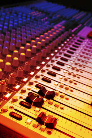 Mixer of a digital technology and controlpanel for djs. Stock Photo