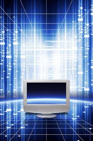 Digital multimedia technology.. Communication technology. photo