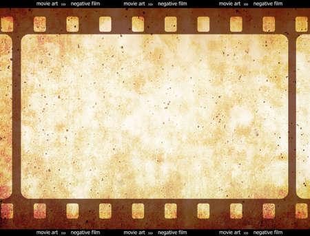 Film strip frame space.... 35mm filmstrip. Vectorial illustration with old negative film strip