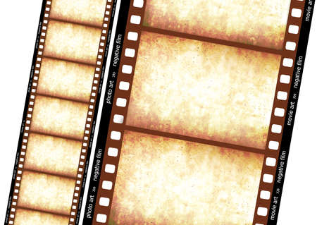 Historical film effect... 35mm filmstrip.  High detailed drawing.