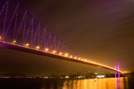 istanbul bosporus bridge. istanbul night dream. Stock Photo - 3497475