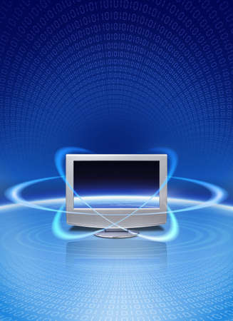 Digital multimedia magic technology.. Stock Photo
