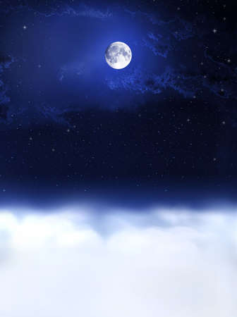 nightfall: Moon light and night dreams... Night and day concept. Day and night background.