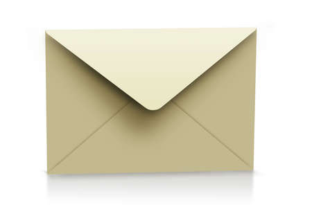 Classical mail concept. Brown envelope, concept of communication. photo