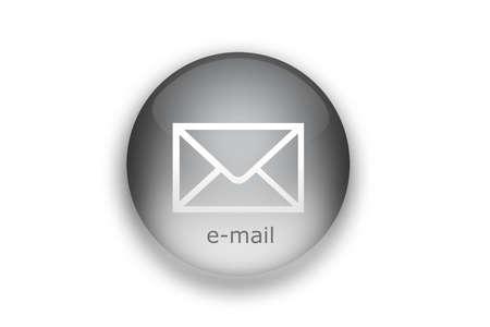 recieve: E-mail send button illustration. Mail button. Stock Photo