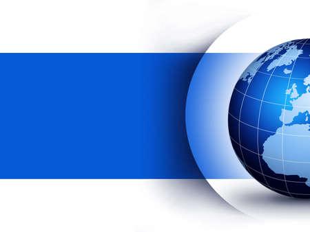 Blue world globe design concept... World globe design illustration. Stock Photo