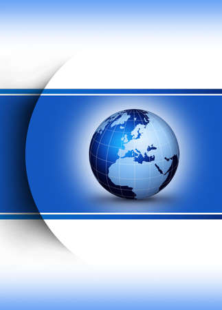 Blue world globe design concept...