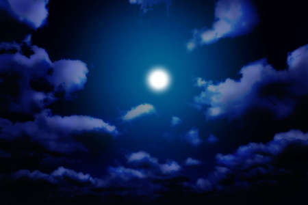 clouded sky: Moon light and night dreams... Stock Photo
