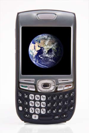 Global communication. Pda and global technology.