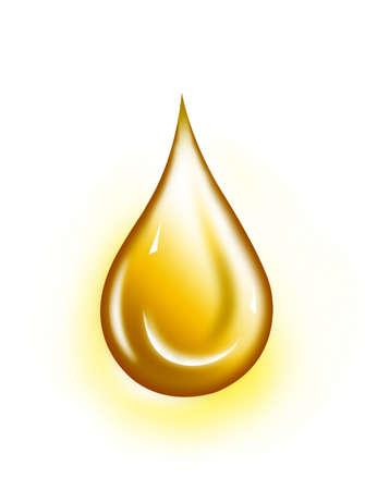 Water drop illustration. Water drop background..  Yellow water-drop. Golden-Drop Stock Photo