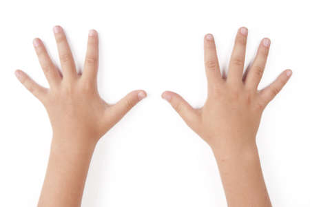 Child hands. Human five fingers hand. Stock Photo - 6125099