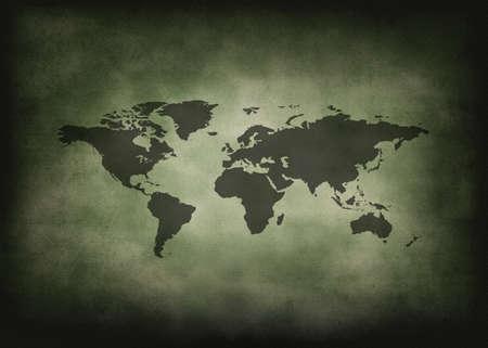 Vintage and grunge world.  Historical world map.