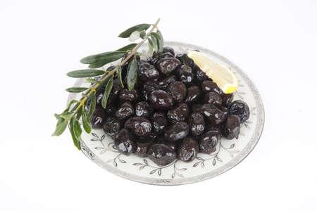 Black  olive. Plate in black olive.