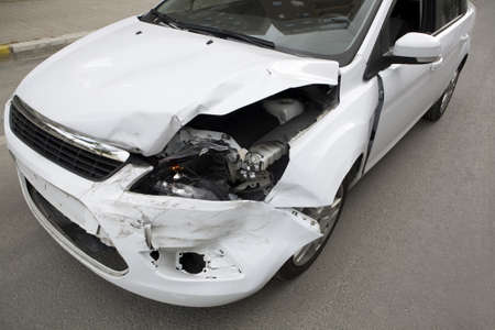 Traffic accident.  Car crash.