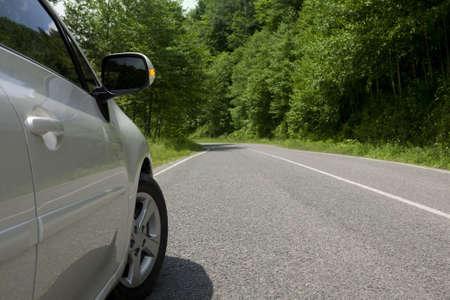 Nature travel road. Car road.