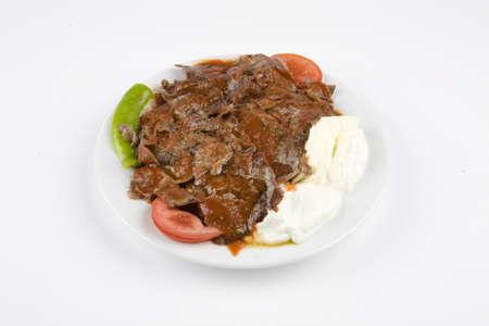 Turkish kebab. Turkish buttery iskender kebab.