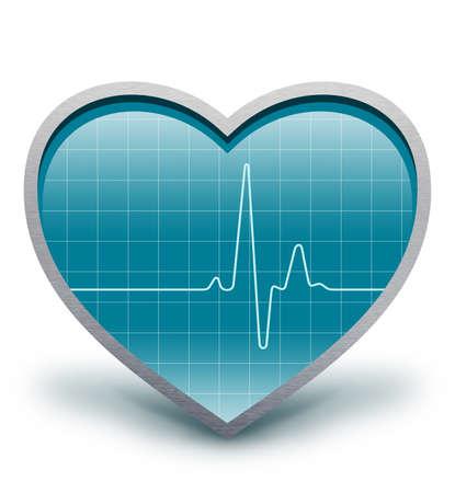 cardioid: El coraz�n late Electro cardiograma Foto de archivo