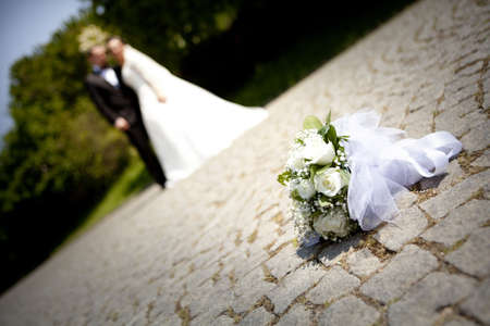 White flowers wedding. Wedding concept.  Stock Photo