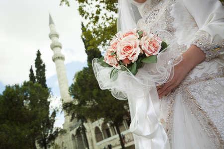 femme musulmane: Concept de mariage islamique Banque d'images