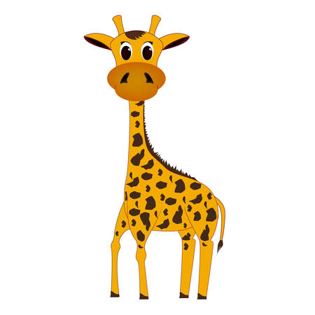 should: It should be spotted giraffe on a white background