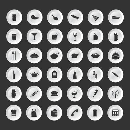 rice wine: Food and Drink icons set Elegant series