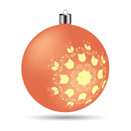 frosted: Christmas frosted orange on a white background Illustration