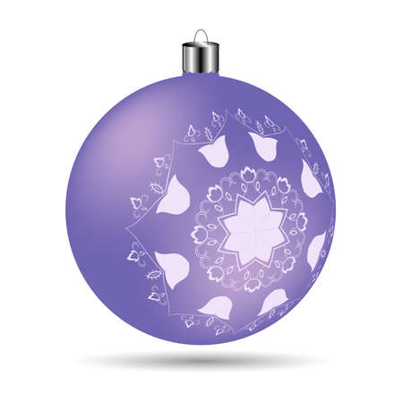 frosted: Christmas frosted lilac color on a white background Illustration