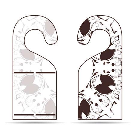 door hanger: Two tags on the door hanger with ornament