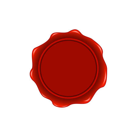 wax stamp: Old wax stamp. Print red. Vector. On a white background Illustration