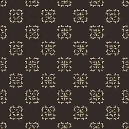 light brown: Seamless pattern with a light brown ornament on a brown background. Vector