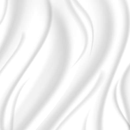 hue: Elegant silk texture, white color with a silvery hue. Vector