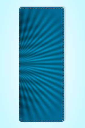 Vertical banner of blue crumpled texture. Illustration