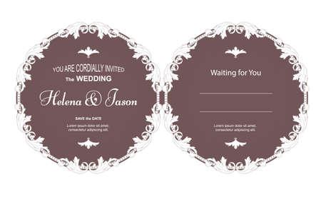 Elegant two-way wedding invitation