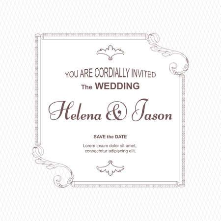 Elegant two-sided wedding invitation