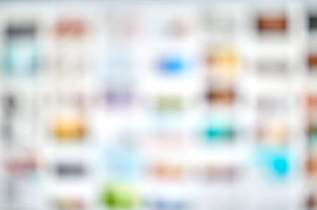 detail of a blurred view of a file viewer with thumbnail images