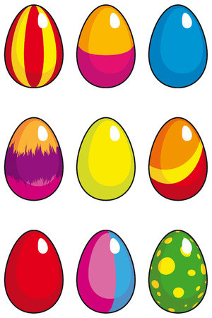 Colorful set Easter Eggs