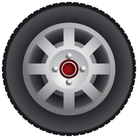Car wheel Illustration