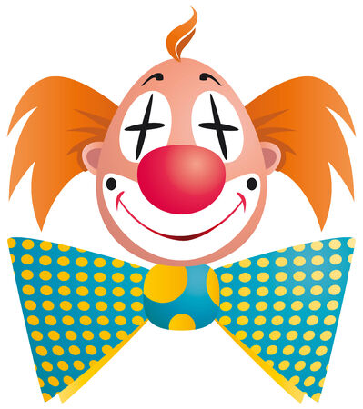 Clown portrait isolated on white background