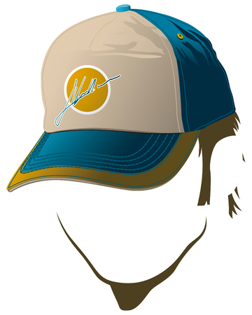 baseball cap: Male face with baseball cap