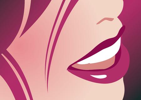 Lady smile Illustration