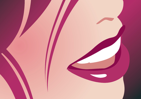 dentition: Lady smile Illustration