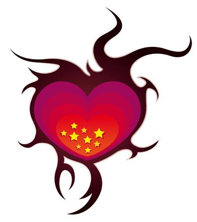 hearth: Decorative starry hearth Illustration