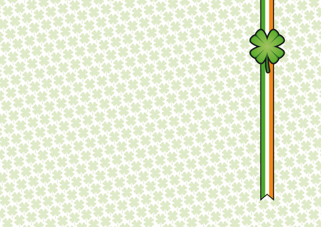St. Patrick's day background with clover banner and texture Stock Vector - 6589592
